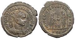 Ancient Coins - Maximianus First Reign: 286-305 A.D. Antoninianus Tripolis Mint VF