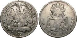 World Coins - MEXICO: 1873-Oa E 1 Peso