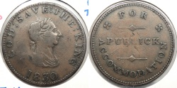 World Coins - ISLE OF MAN: 1830 HalfPenny Token