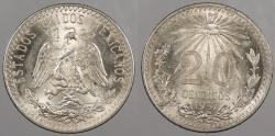 World Coins - MEXICO: 1937 20 Centavos
