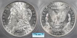 Us Coins - 1879 O Morgan 1 Dollar (Silver) ICG MS-62+