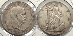 World Coins - ITALY: 1936-R 10 Lire