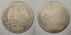 World Coins - MEXICO: 1850-Go PF 8 Reales