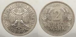 World Coins - GERMANY: 1951-D 2 Mark