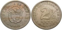 World Coins - PANAMA: 1916 2 1/2 Centesimos