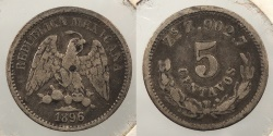 World Coins - MEXICO: 1896-Zs Z 5 Centavos