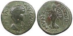 Ancient Coins - Macedon Stobi Julia Domna, wife of Septimius Severus 196-211 A.D. AE23 Good Fine
