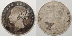 World Coins - GREAT BRITAIN: 1876 Victoria Halfcrown