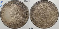 World Coins - INDIA: 1918( c) George V Rupee