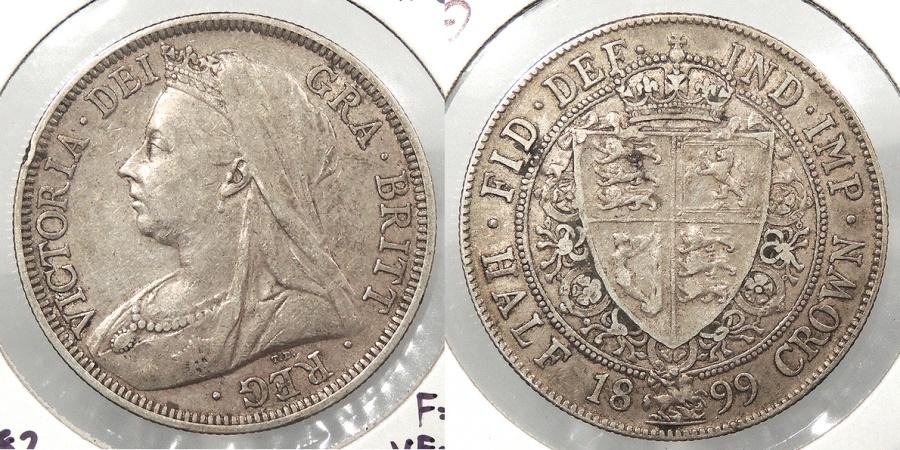 World Coins - GREAT BRITAIN: 1899 Halfcrown