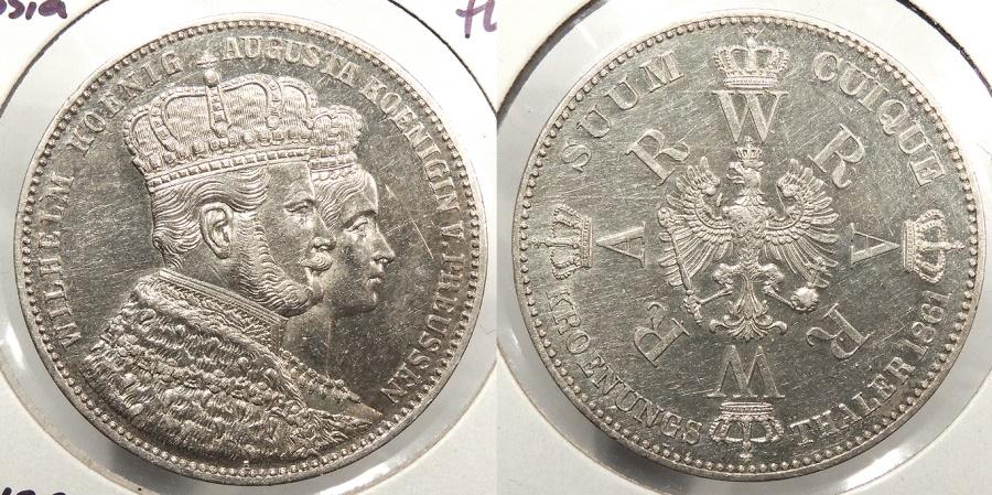 World Coins - GERMAN STATES: Prussia 1861 Thaler