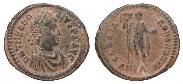 Ancient Coins - Theodosius I 379-395 A.D. AE2 Antioch Mint VF