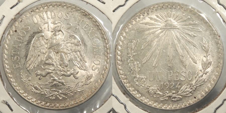 World Coins - MEXICO: 1924 Peso #WC63404