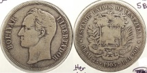 World Coins - VENEZUELA: 1903 5 Bolivares #WC63413