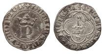 World Coins - SPAIN Castille & Leon Pedro I (the Cruel) 1350-1368 1/2 Real Near EF