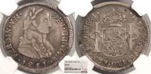 World Coins - CHILE Ferdinand VII 1811-So FJ 2 Reales NGC VF-25