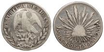 World Coins - MEXICO 1826-Mo JM 2 Reales Fine