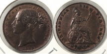 World Coins - GREAT BRITAIN: 1853 Farthing