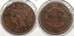 Us Coins - 1842 Braided Hair 1 Cent