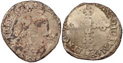 World Coins - FRANCE Henry III 1574-1589 Double Sol Parisis 1583-S VF