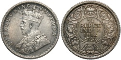 World Coins - INDIA: 1912-(c) 1/4 Rupee