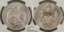 World Coins - CHILE 1878-So Peso NGC MS-63