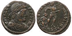 Ancient Coins - Valens 364-378 A.D. AE3 Siscia Mint Good VF