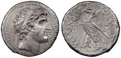 Ancient Coins - Seleukid Kings Alexander I Balas 150-145 B.C. Tetradrachm Good VF