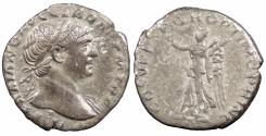Ancient Coins - Trajan 98-117 A.D. Denarius Rome Mint Good VF