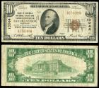 Us Coins - San Francisco, California Bank of America National Trust and Savings Association 1929 10 Dollars Fine