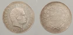 World Coins - PORTUGAL: 1891 200 Reis