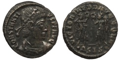 Ancient Coins - Constantius II 337-361 A.D. Follis Siscia Mint Good VF
