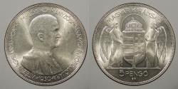 World Coins - HUNGARY: 1930 5 Pengo