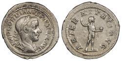 Ancient Coins - Gordian III 238-244 A.D. Denarius Rome Mint Good VF