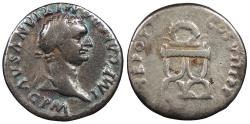 Ancient Coins - Domitian 81-96 A.D. Denarius Rome Mint Good Fine