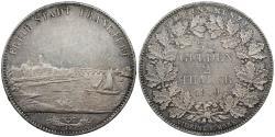 World Coins - GERMAN STATES Frankfurt Free City 1840 2 Thaler (3.5 Gulden) EF