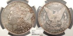 Us Coins - 1887 Morgan 1 Dollar (Silver) NGC MS-65