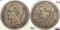 World Coins - VENEZUELA: 1903 5 Bolivares #WC63413
