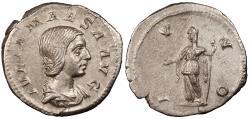 Ancient Coins - Julia Maesa, Grandmother of Elagabalus 218-223 A.D. Denarius Rome Mint EF Includes Harlan J Berk ticket citing ex. Philip Ashton collection.