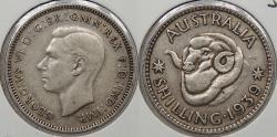 World Coins - AUSTRALIA: 1939 George VI Shilling
