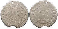 World Coins - MEXICO Ferdinand (Fernando) VI 1747-Mo M 2 Reales 'Pistareen' No Grade