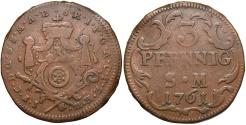 World Coins - GERMAN STATES: Mainz Archbishopric 1761 3 Pfennig