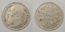 World Coins - BELGIUM: 1904 Flemish legend. 2 Francs