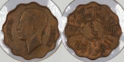 World Coins - IRAQ: 1938 4 Fils