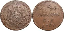 World Coins - GERMAN STATES: Mainz Archbishopric 1760 3 Pfennig