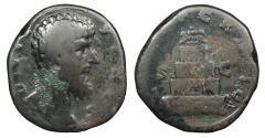 Ancient Coins - Lucius Verus 161-169 A.D. Sestertius Rome Mint About Fine