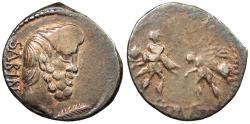 Ancient Coins - L. Titurius L. f. Sabinus 89 B.C. Denarius Rome Mint VF