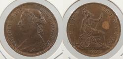 World Coins - GREAT BRITAIN: 1889 Victoria. Halfpenny