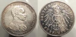 World Coins - GERMAN STATES: Prussia 1913-A 5 Francs