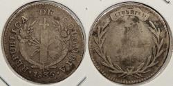 World Coins - COLOMBIA: 1836-(B) R.S. Real